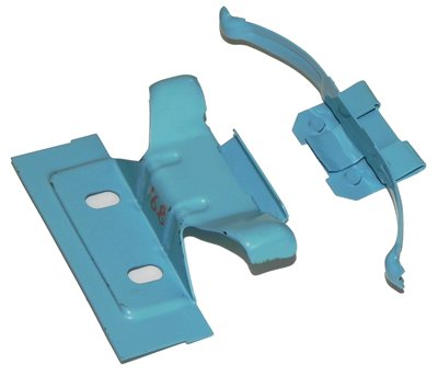 I-6-5 Heater Core Mounting Clips in Blue Compatible with 1964-81 GM Heater Cores Inline Tube