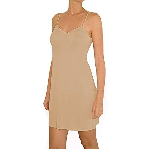 Anemone Women's Non-Cling Silky Smooth Full Slip - Nude Medium