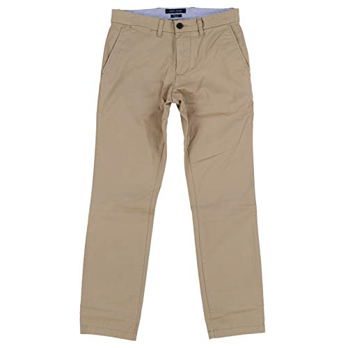 Tommy Hilfiger Mens Slim Fit Flat Front Chino (Beige, 32x32)