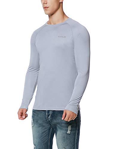 EZRUN Mens UPF 50+ UV Sun Protection Outdoor Running Performance T-Shirt
