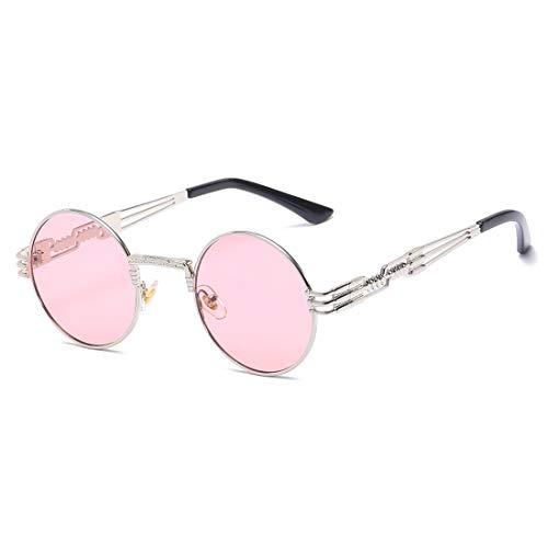 Soleil Frame Lens Lunettes Soleil Frame Gold Pink Vintage Homme Et de Lunettes Pêche Silver Lunettes De Femme Classiques De Pink Soleil TLMY De Lens Couleur Sq4EBwZn
