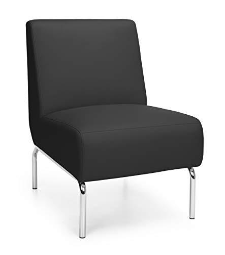 OFM Triumph Series Armless Modular Lounge Chair, in Black (3000-PU606)