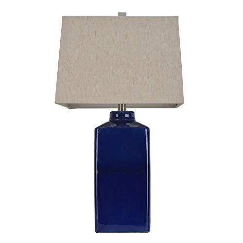 Square Ceramic Table Lamp, Rich Blue (Jimco Table Lamp)