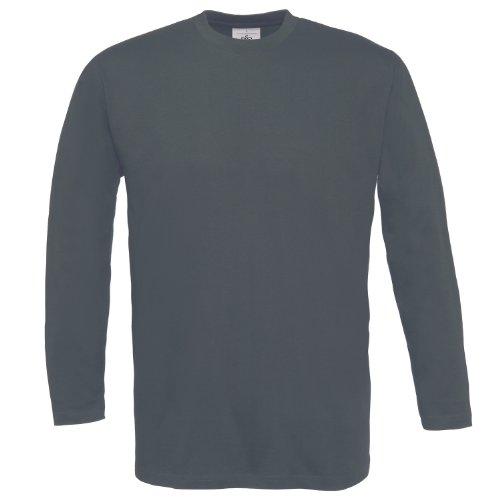 B&C - Langarm T-Shirt 'Exact 150 LS' XL,Dark Grey