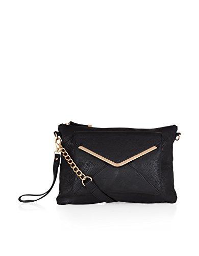 Accessorize Womens Soft Envelope Ziptop Across Body Bag