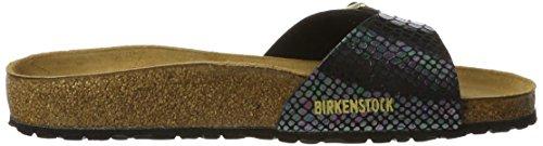 BirkenstockMadrid Birko-flor - Mules Mujer Mehrfarbig (Shiny Snake Black Multi)