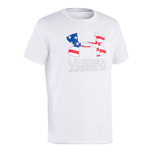 Under Armour Boys' Little UA Big Logo SURF Shirt, White, 5 rash guard under armour 13