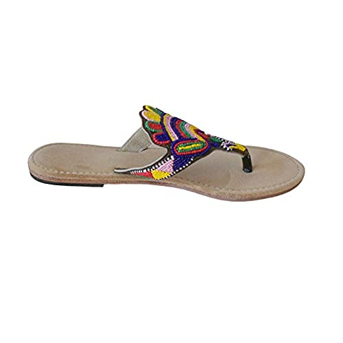 9519199dd10b Kalra Creations Women s Traditional Indian Shoes Velvet With Sequence Work  Ethnic Flats best