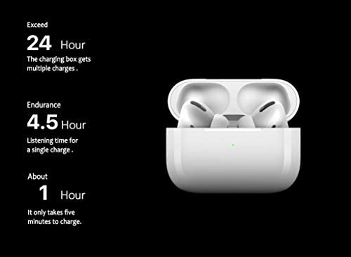 Wireless Earbuds Bluetooth 5.0 Headphones 3D Stereo CVC8.0 Noise Canceling True Wireless Earbuds with Fast Charging Case,One-Step Pairing for iPhone/Samsung/Android Apple AirPods Pro Earphones 31cwmuwl tL