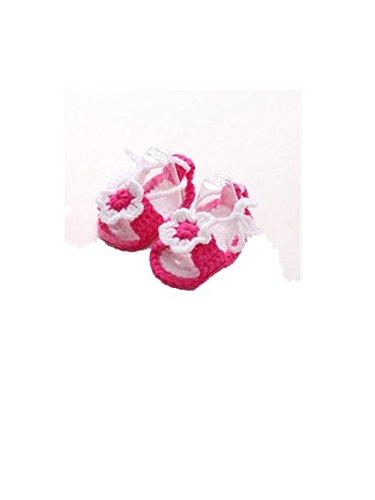 Baby Wanderschuhe,Chshe Prewalker Säugling Stricken Süß Wolle Blumen Anti-Rutsch Weich 0-1Jahre alt Kind Schuhe Trainer