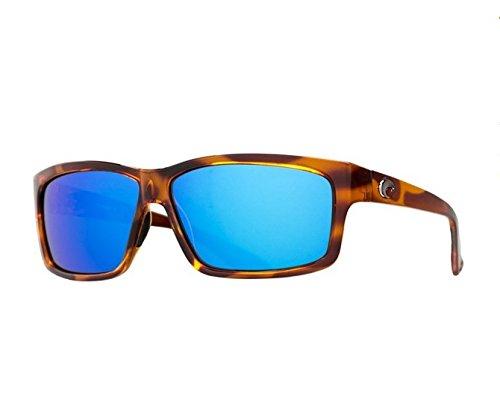 Costa Del Mar Sunglasses - Cut- Glass / Frame: Honey Tortoise Lens: Polarized Blue Mirror Wave 400 Glass ()