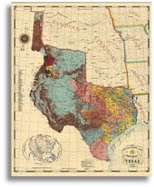 Amazoncom Republic Of Texas By John Davis Office Products - Vintage texas map framed