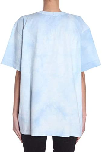 AMEN Luxury Fashion Donna AMS18220S18020605 Azzurro Cotone T-Shirt | Stagione Outlet
