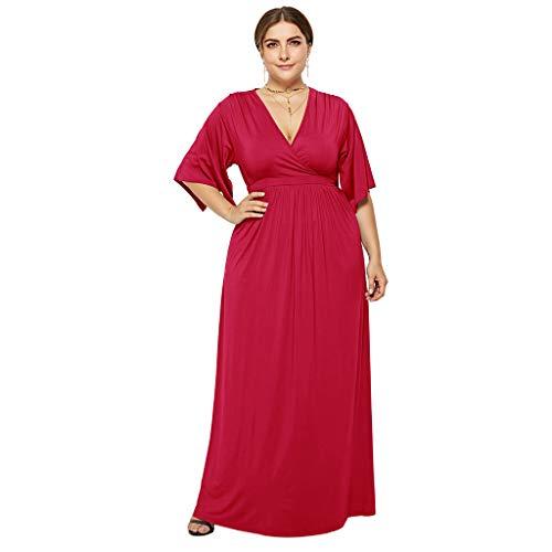 HYIRI Plus Size Women's Summer Spaghetti Strap Chiffon Dress Sleeveless Beach Slip Dress Loose Fit Casual Dress Red ()