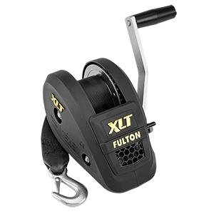 Fulton 1400lb Single Speed Winch W/20' Strap Included - Black Cover