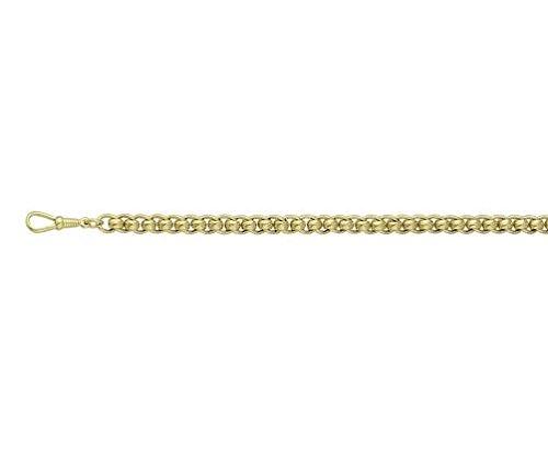 Or 18carats Jaune S-Design Florentine 19,1cm/Bracelet 19cm