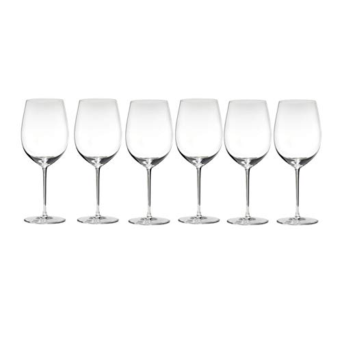 Riedel 2440/00 Sommeliers Bordeaux Grand Cru Wine Glasses, Set of 6 Glasses -
