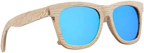 LY4U lunettes de soleil en bois pour hommes et femmes lunettes vintage verres polarisés lunettes de soleil unisexes avec...