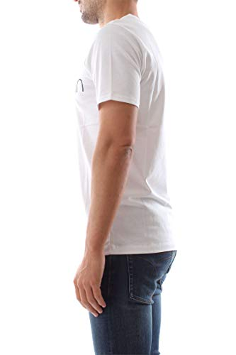 T Klein Calvin Cotton Front Parfait shirt Blanc Short Sleeve Logo nSYRqPYv