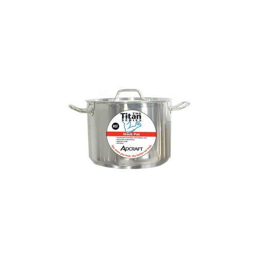 S/s Stock Pot Cover - Adcraft SSP-12 Titan Series 12 Qt. S/S Induction Stock Pot With Cover