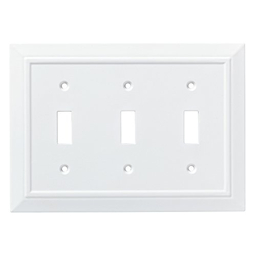 Franklin Brass W35249-PW-C Classic Architecture Triple Switch Wall Plate/Switch Plate/Cover, White