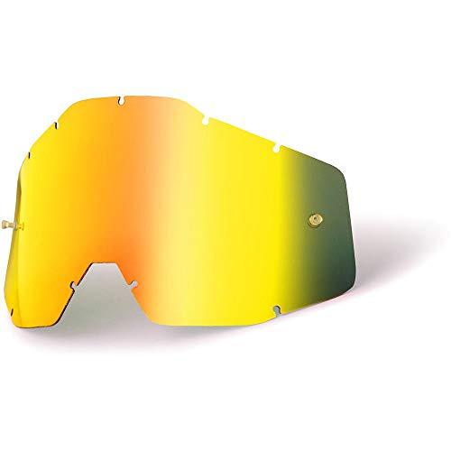 (100% Speedlab (51003-009-02) ACCURI/STRATA Youth-Replacement Lens W/Posts-Gold Mirror/Smoke Anti-Fog, Free Size))