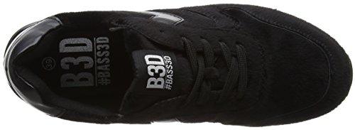 Noir Black black Baskets Bass3d 041372 Femme q6ZPP8