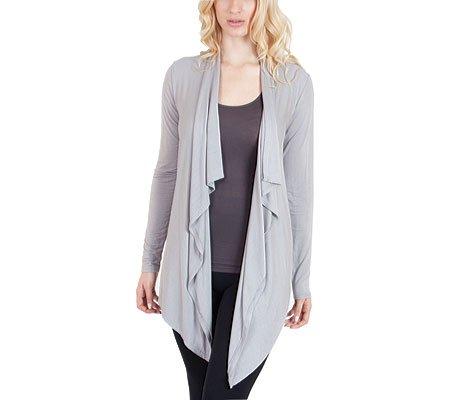 Agiato Women's Stylish Cascade Cardigan Gray