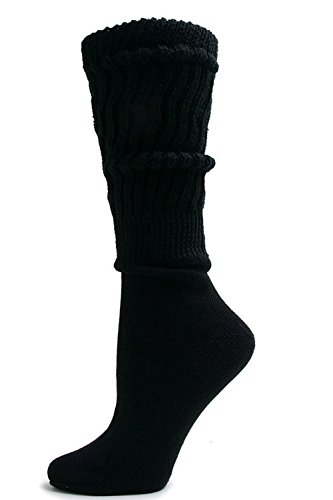 Heavy Slouch Sock Women's Black Elliesox Excell Lis Mar(6 Pairs)