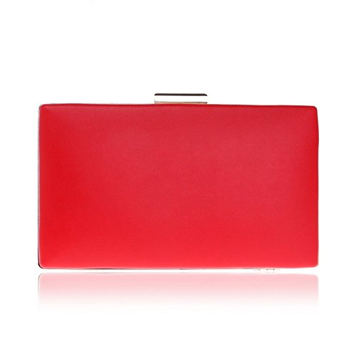 Purse Evening Prom Gift For Clutch Wedding Bag Bridal Handbag Women Leather Party Clubs Envelope Ladies Shoulder Bag Red PU xwEqTB1