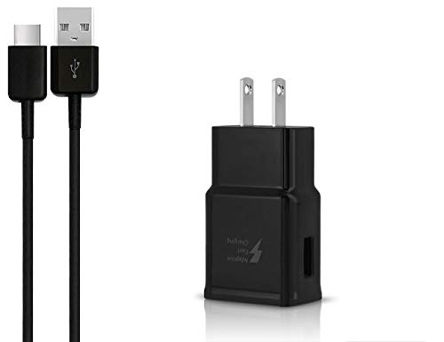 OEM Adaptive Fast Charger for Motorola Moto Z Droid Cell Phones [Wall Charger + 4 FT USB C Cable] - USB 2.0 Fast Charging Kit True Digital Adaptive Fast Charging - Black