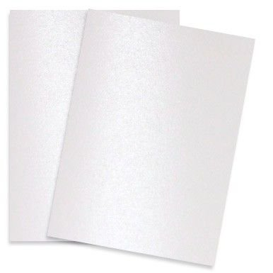 Shimmer Pure SNOW White Pearl 92C 8-1/2-x-11 Cardstock Paper 100-pk - 249 GSM (92lb Cover) PaperPapers Letter size Card Stock Paper - Business, Card Making, Designers, Professional and DIY -