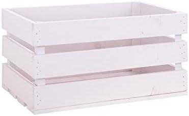 Decowood - Pack 15 Cajas Grande en Madera de Pino, Rosa Pastel - 49 x 30,5 x 25,5 cm: Amazon.es: Hogar