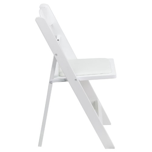 Flash Furniture 4 Pk. HERCULES Series White Wood Folding Chair with Vinyl Padded Seat by Flash Furniture (Image #2)