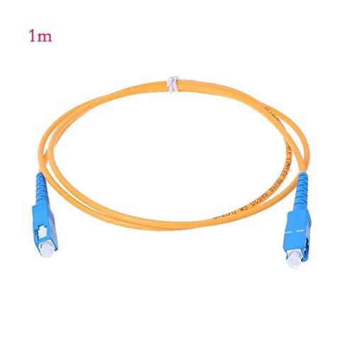 Calvas SC/UPC-SC/UPC-SM 3mm Fiber Optic Jumper Cable Single Mode Extension Patch Cord - (Color: 1m)