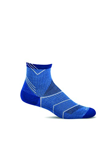 Sockwell Mens Incline Quarter Moderate Graduated Compression Socks  Ocean  Large X Large