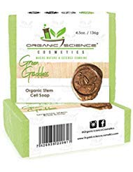 Organic Science Cosmetics Natural Green Goddess Stem Cell Organic Soap Bar - Cleansing, Oxygenating, and Rejuvenating - Advanced Stem Cell Therapy Skin Healing Formula - 4 ounces