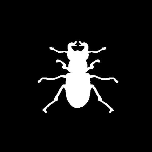 SHMAZ 15 Cm * 13.3 Cm Dazzling Cool Insect Shadow Funny Decal Leuke Auto Sticker Zwart/Zilver