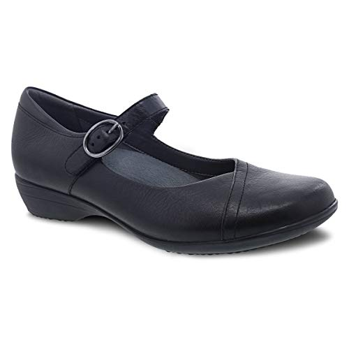 Dansko Women's Fawna Black Mary Janes 5.5-6 M US