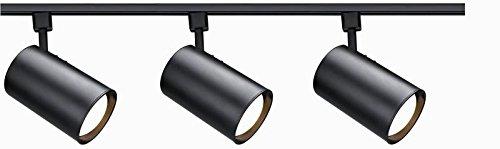 Nuvo Lighting TK341 3-Light Line Voltage R30 Straight Cylinder Track Light Kit, Brushed Nickel (Track Voltage Line Cylinder)