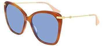 Gucci Gafas de Sol GG0510S Light Havana/Blue Mujer ...