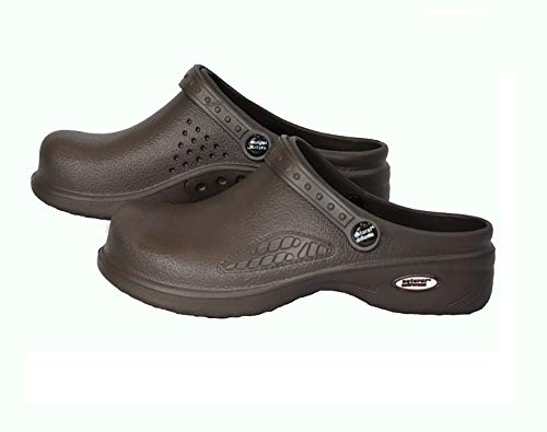 e41e433425a56 Natural Uniforms Ultralite Women's Clogs with Strap, Work Mule (Size 11,  Chocolate)