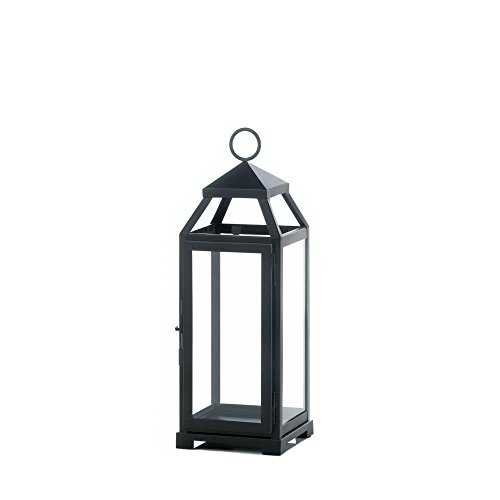 Outdoor Hanging Lantern, Medium Lean Sleek Metal Decorative Floor Outdoor Lantern (Sold by Case, Pack of 6)