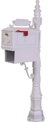 Victorian Barcelona Decorative Cast Aluminum Better Box Mailbox with Paper Box White by Better Box Mailboxes