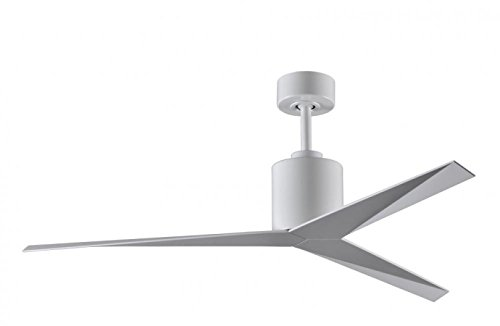 Atlas EK-WH-WH Eliza Three Bladed Paddle Fan in Gloss White With Gloss White Blades