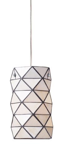 Elk 72021-1 Tetra 1-Light Pendant, 11-Inch, Polished (1 Tetra One Light)