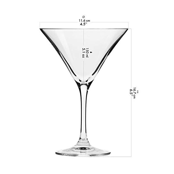 Krosno Bicchieri Cocktail Martini Bar Vetro Coppa | Set di 6 | 150 ML | Elite Collection | Ideale per la casa… 2 spesavip