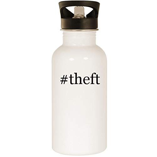#theft - Stainless Steel Hashtag 20oz Road Ready Water Bottle, White