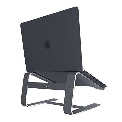 (Macally Aluminum Eye-Level Laptop Stand for Home & Office Desks | Fits All Notebooks from 10