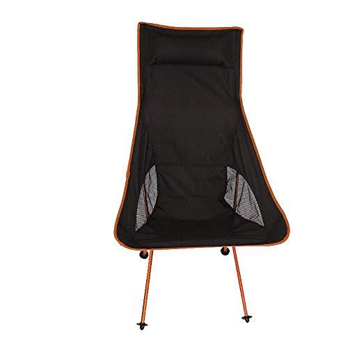 LOVEHOUGE Camping Chair Ultraleichter Klapp-Fischenstuhl - Tragbarer 250 lb Tragbarer Stuhl mit Tragetasche und Kissen für Aktivitäten im Freien, Grill, Strand,Orange